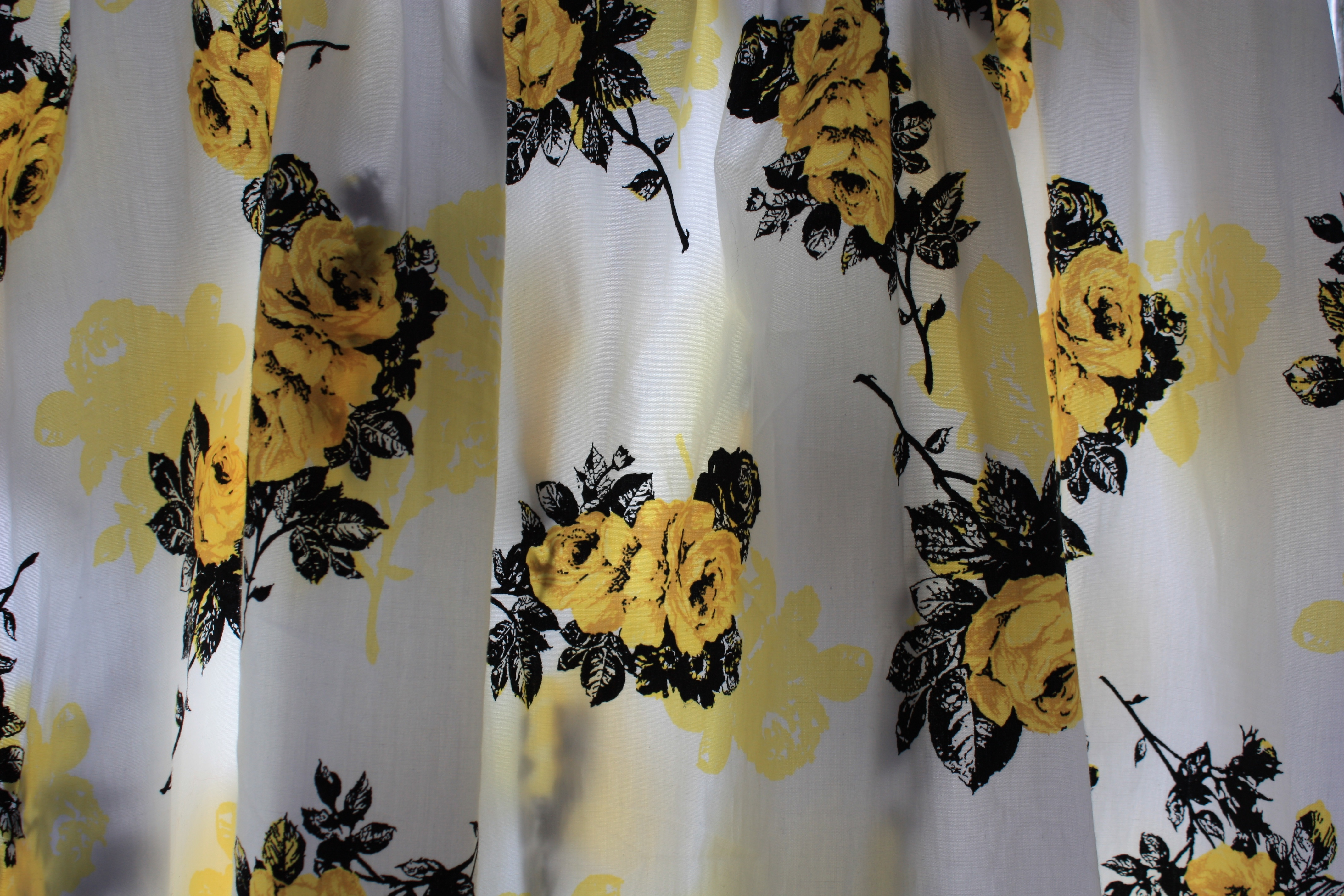 Yellow rose print Tesco