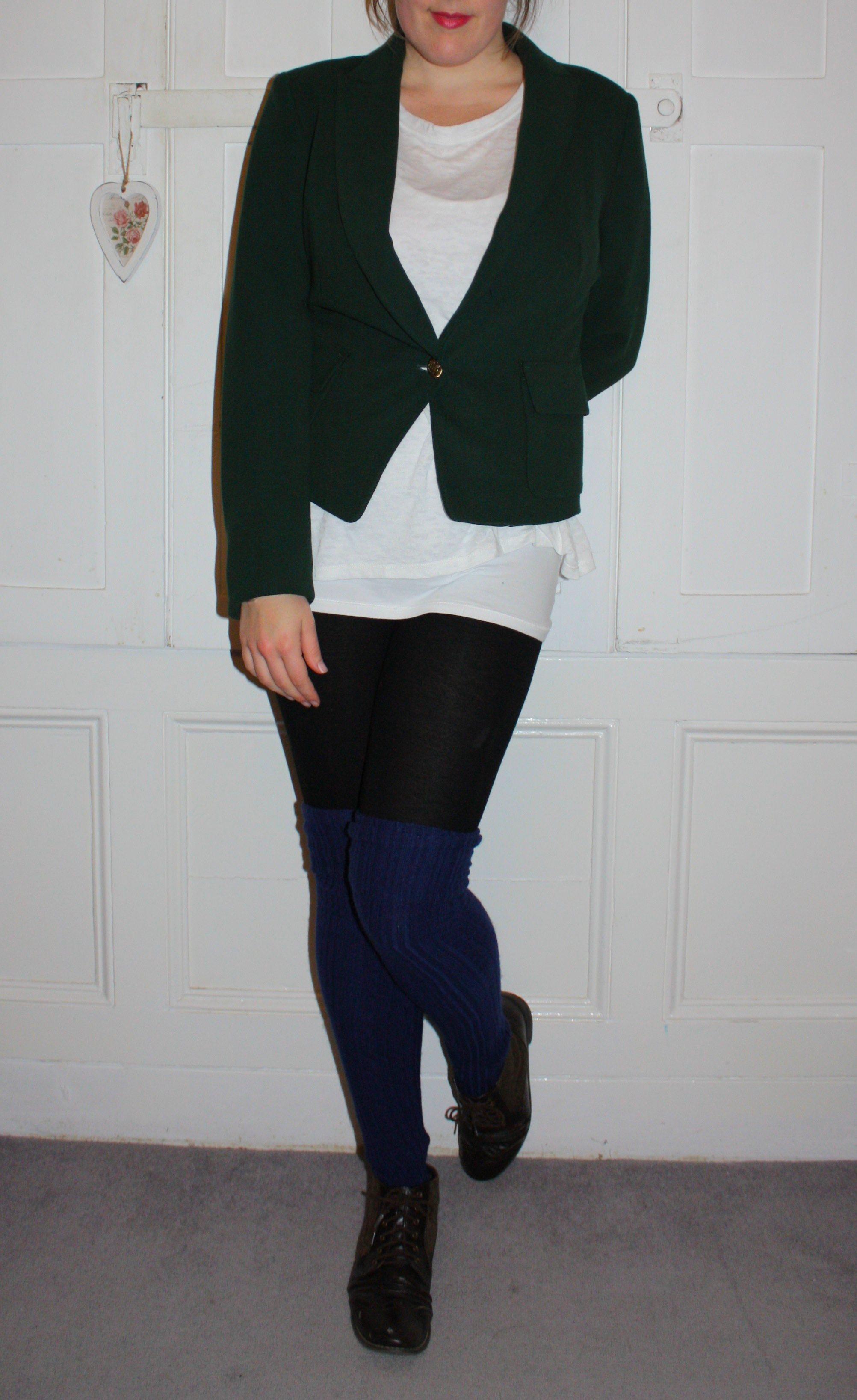 Bottle green blazer Zara