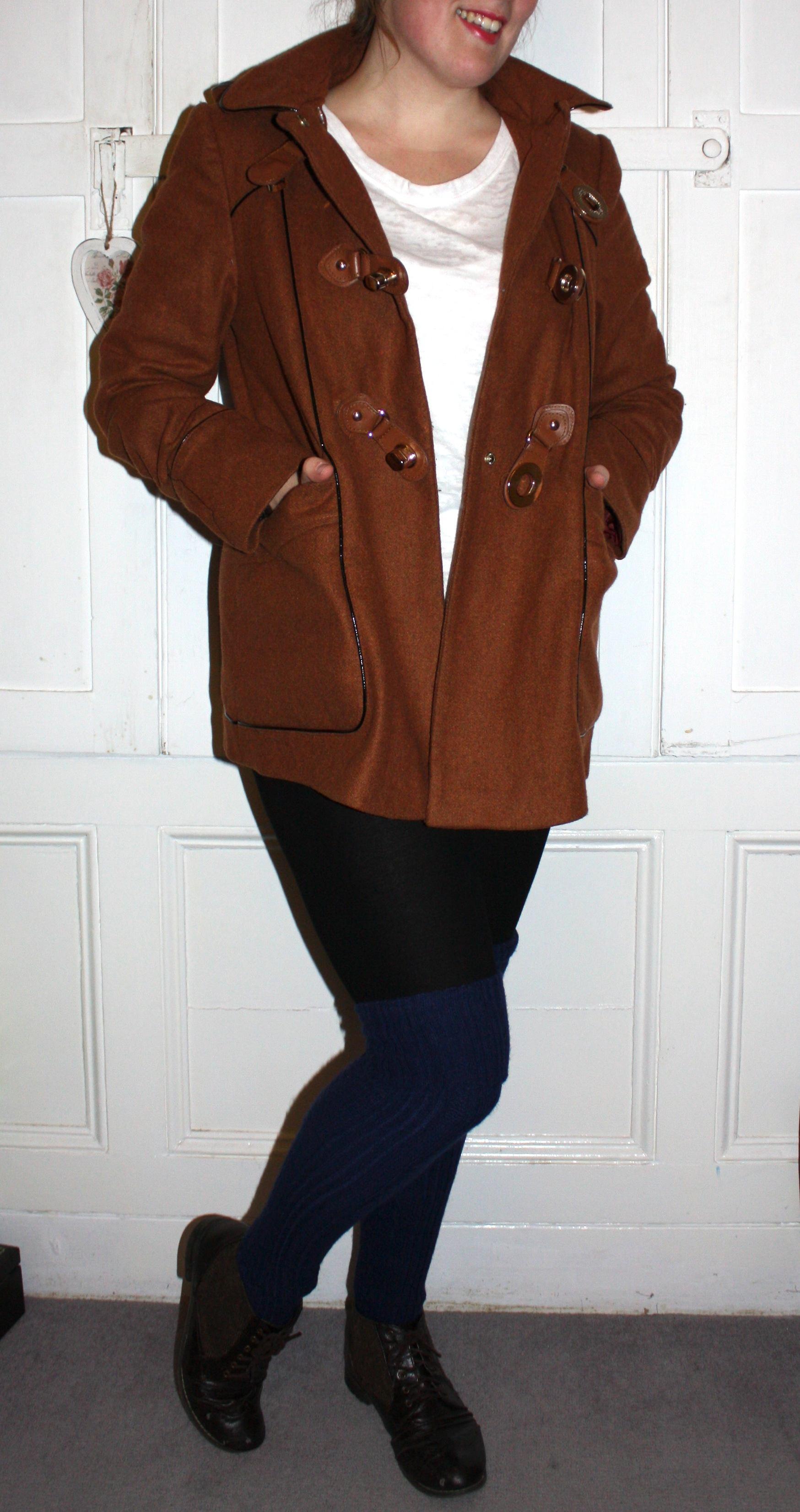 Topshop rust coloured coat