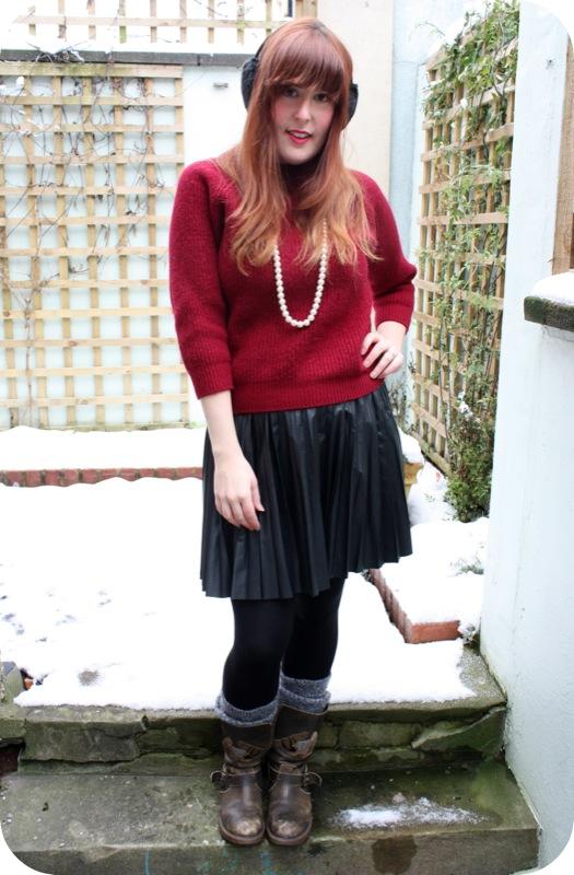Warehouse pleather pleat skirt | Ship-Shape and Bristol Fashion