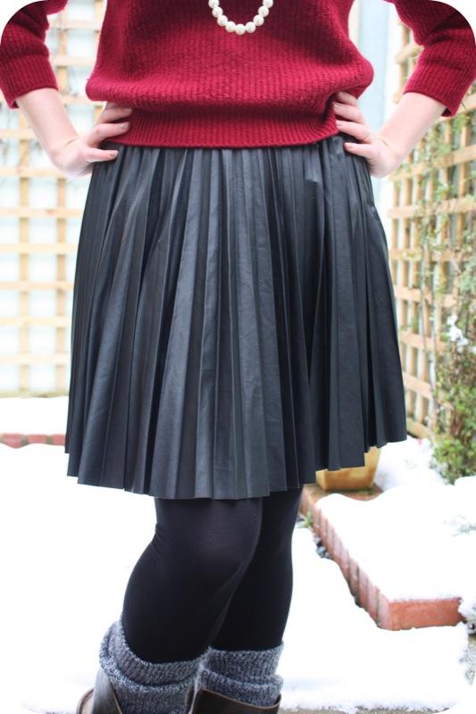 Warehouse skirt and charity shop jumper | Ship-Shape and Bristol Fashion