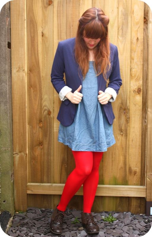 Primark tights and H&M blazer
