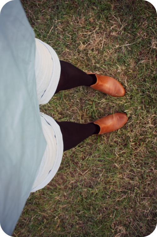 Topshop tan Chelsea boots