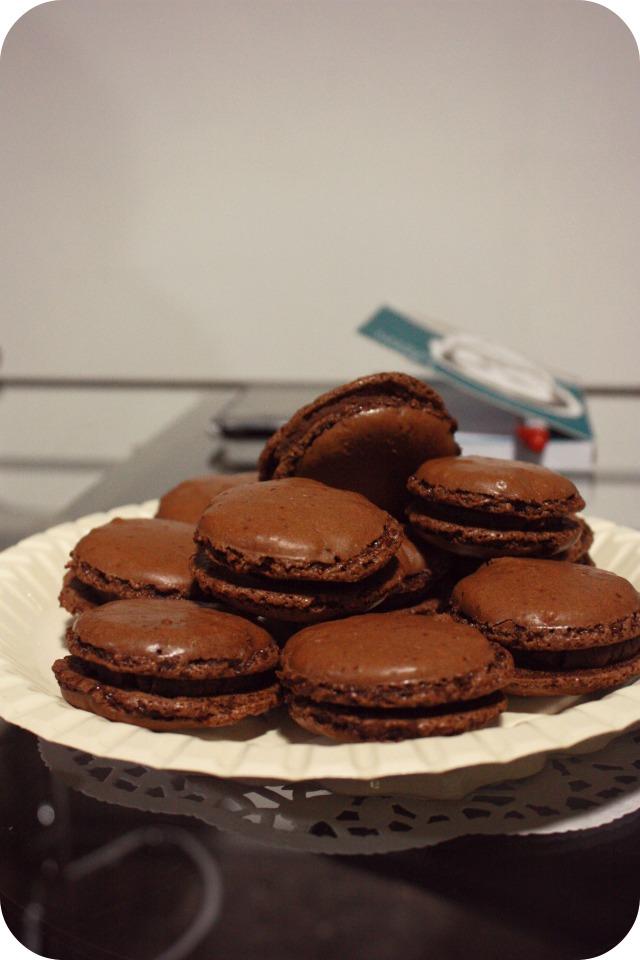 Blog club chocolate macaroons