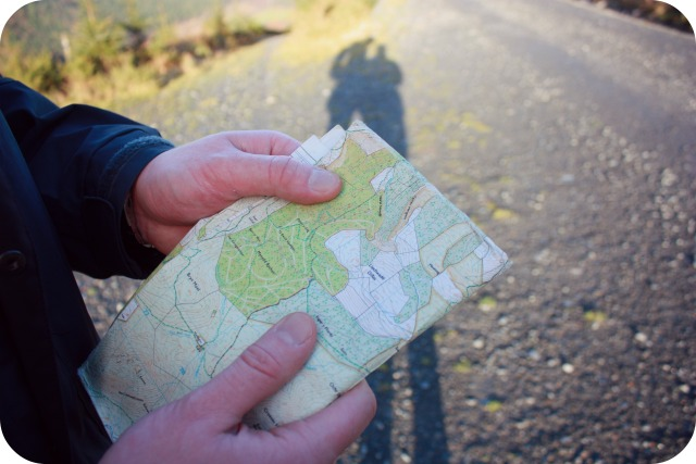 Map reading during a walk