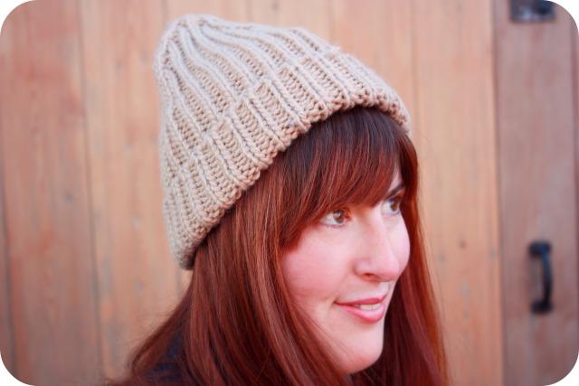 Topshop beige knitted beanie