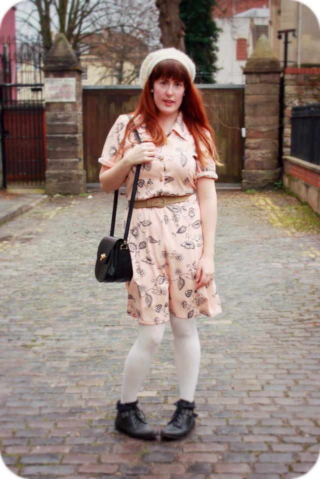 Peach charity shop dress