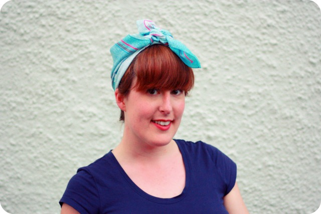 Festival hair idea vintage headscarf