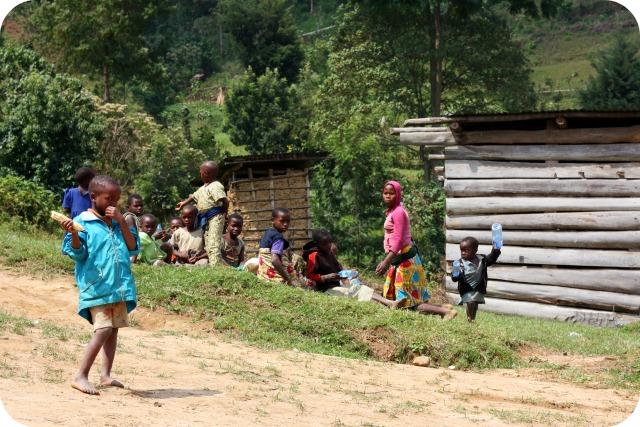 Ugandan children at Rushaga