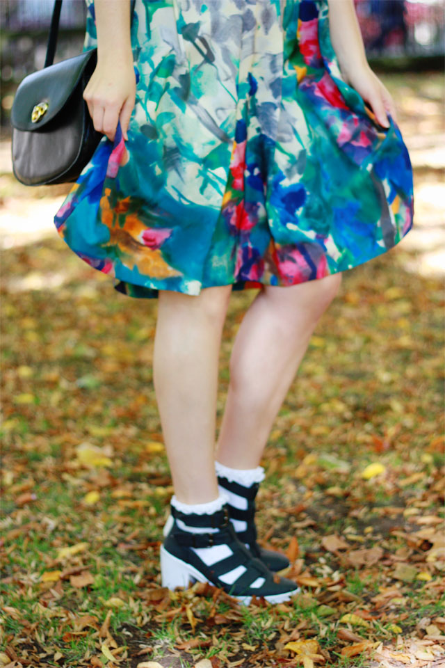 Whistles skirt and Topshop shoes
