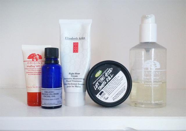 Skincare beauty empties
