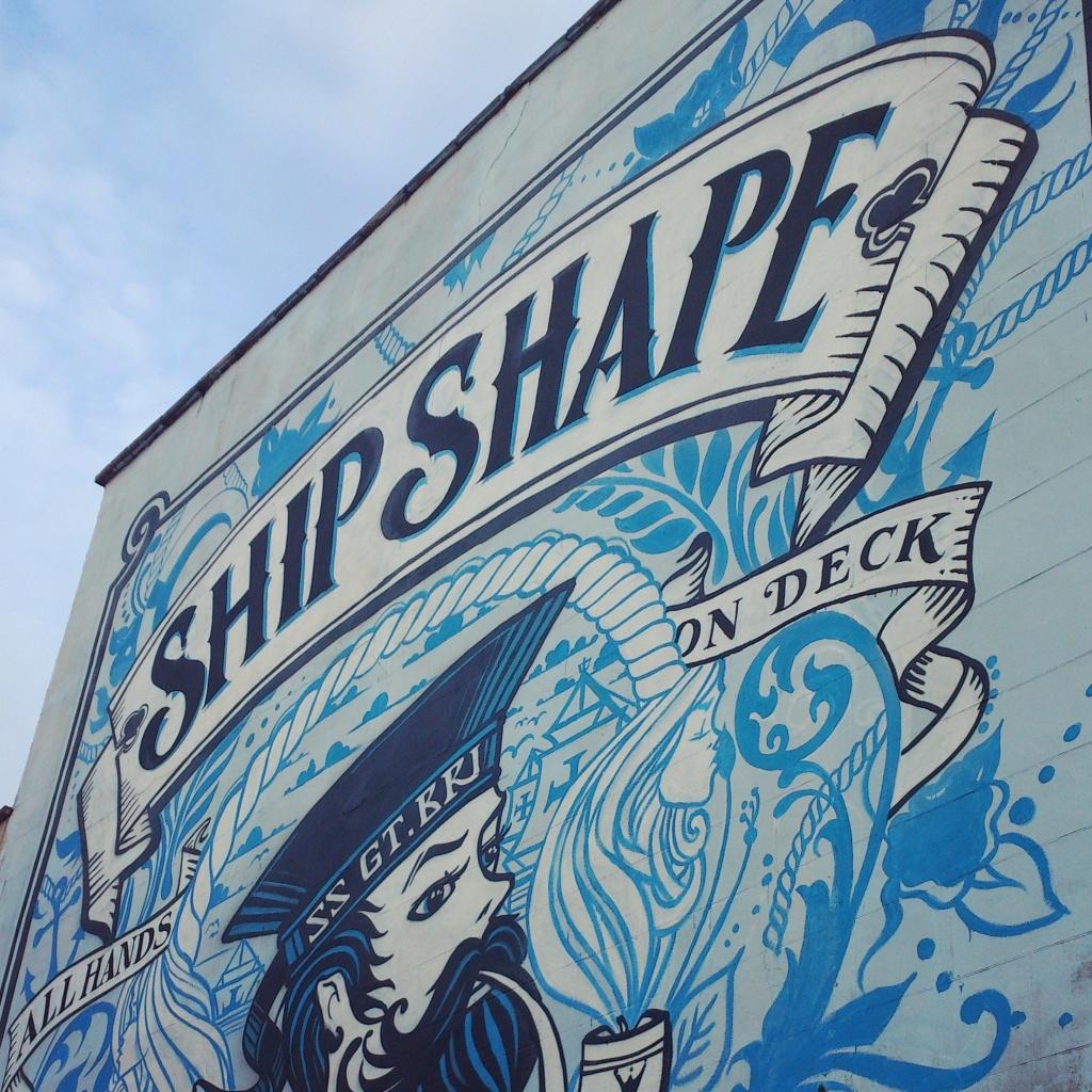 Ship-Shape graffiti in Southville