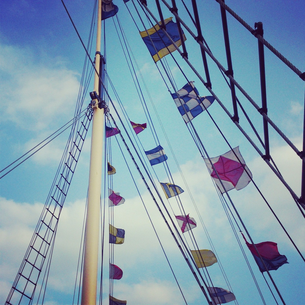 Flags on the SS Great Britain