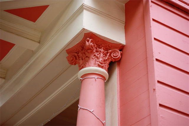 Pink house detailing