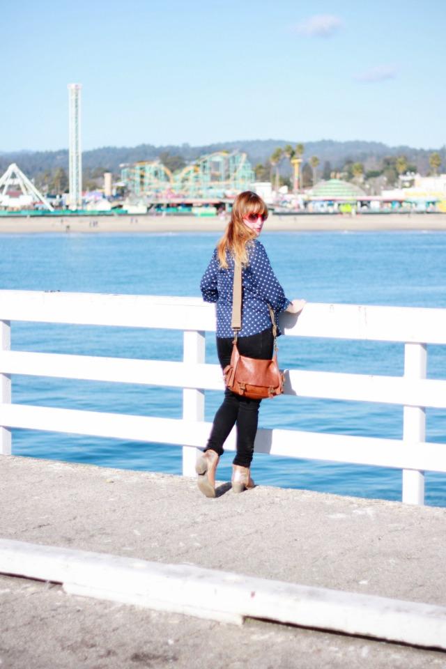 Looking out at Santa Cruz beach