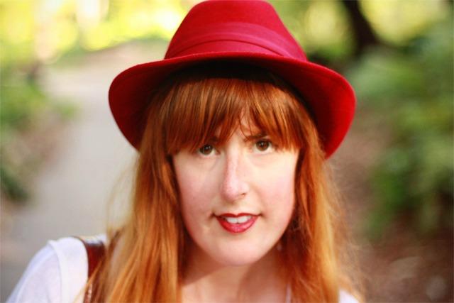 Red fedora from Zara MAN