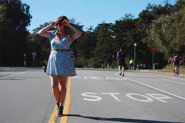 Floral dress ahead