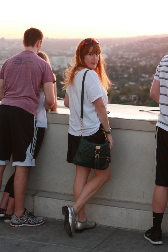 Looking out across LA