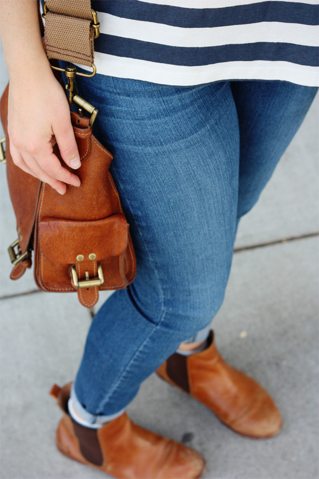 Paige jeans and Mulberry bag