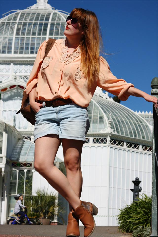 Peachy keen clothes swap shirt