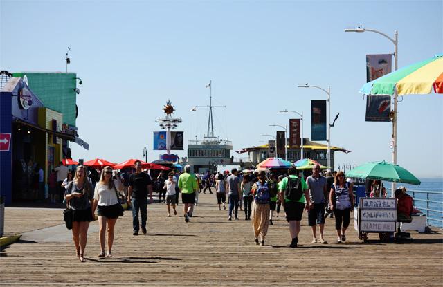 Santa Monica beach boardwalk