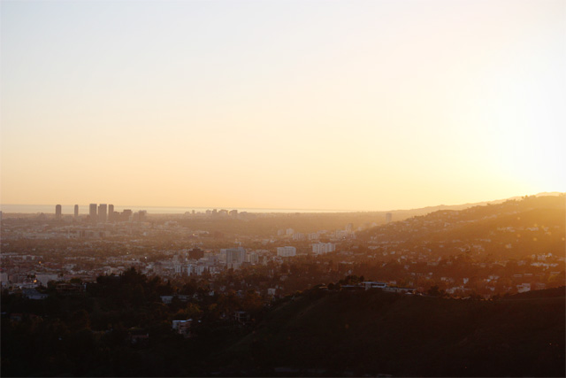 Sunset over west LA