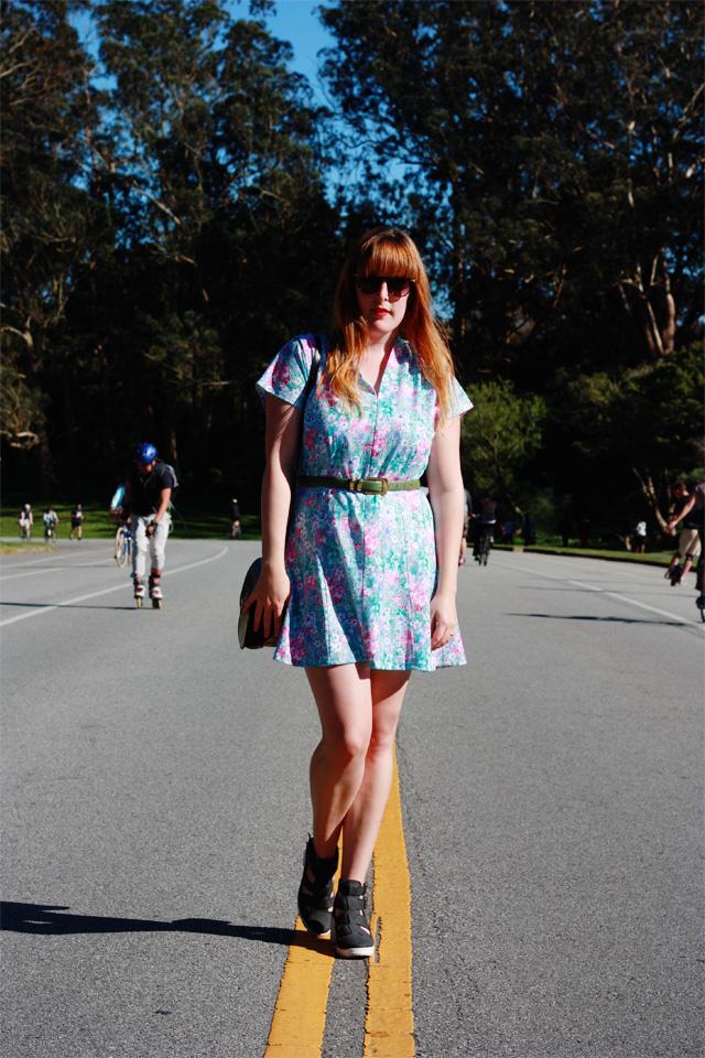 Vintage dress and Topshop heels