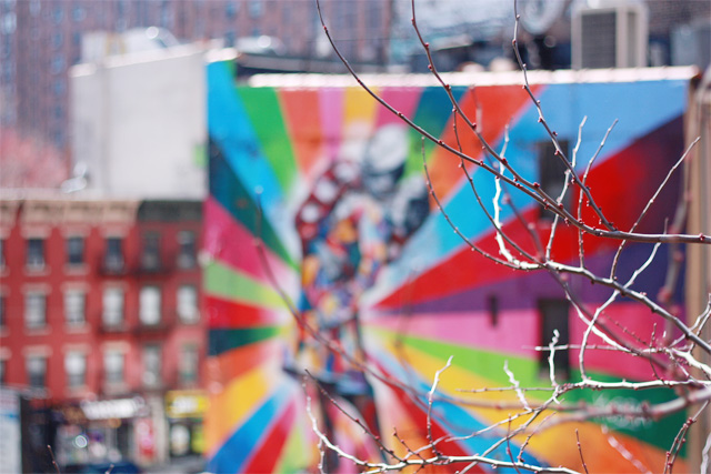 Graffiti by New York's High Line