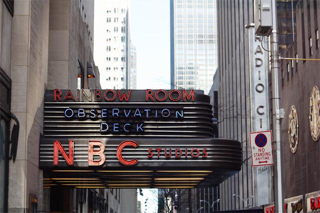 NBC Rainbow Room sign