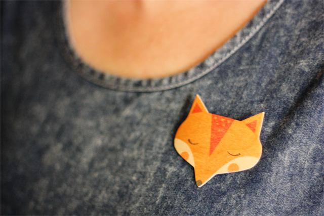 Sleeping fox badge