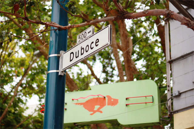 Duboce street sign