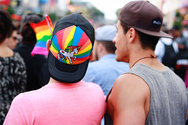 Pride rainbow baseball caps