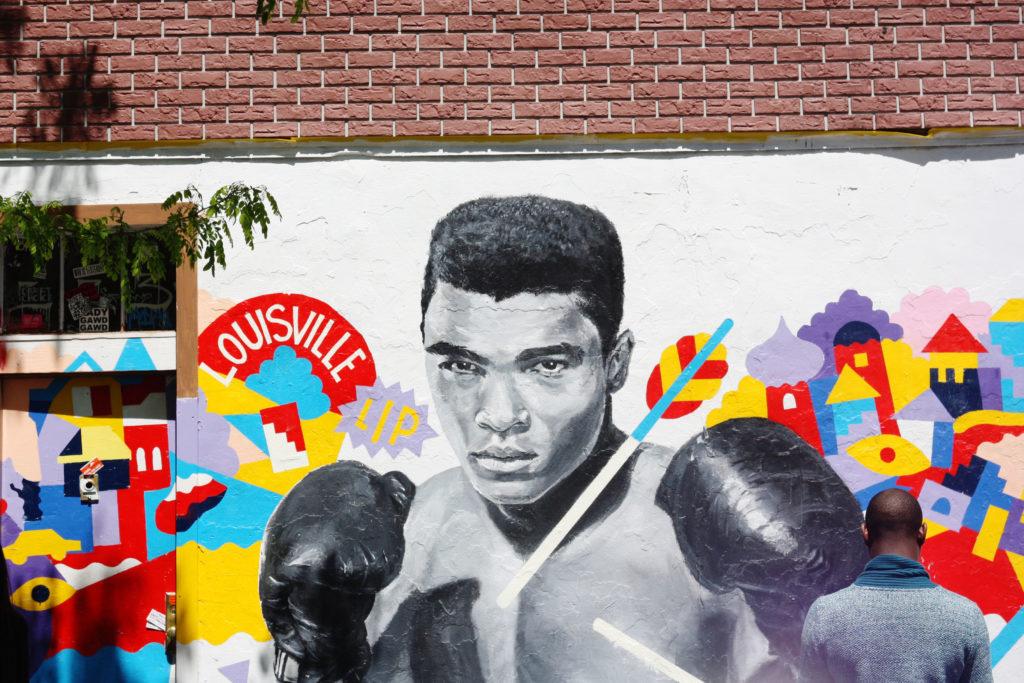 Muhammad Ali grafitti Brooklyn