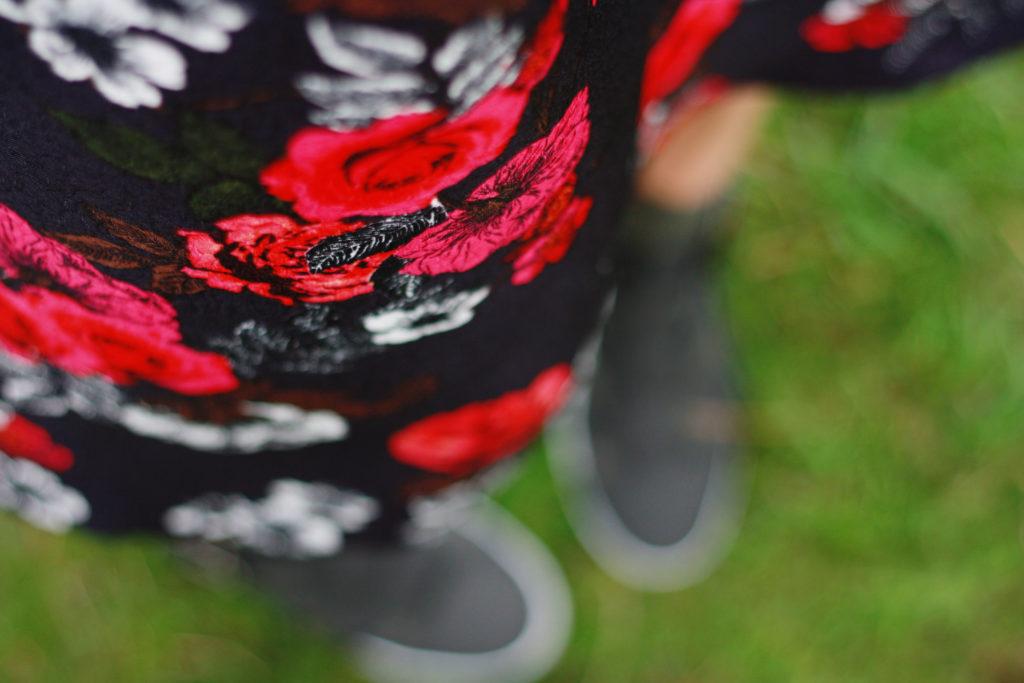 Oasis floral print skirt