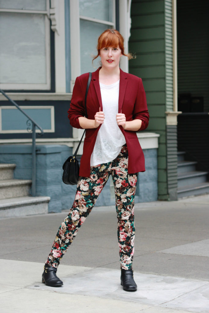 Clothes swap blazer and Zara trousers