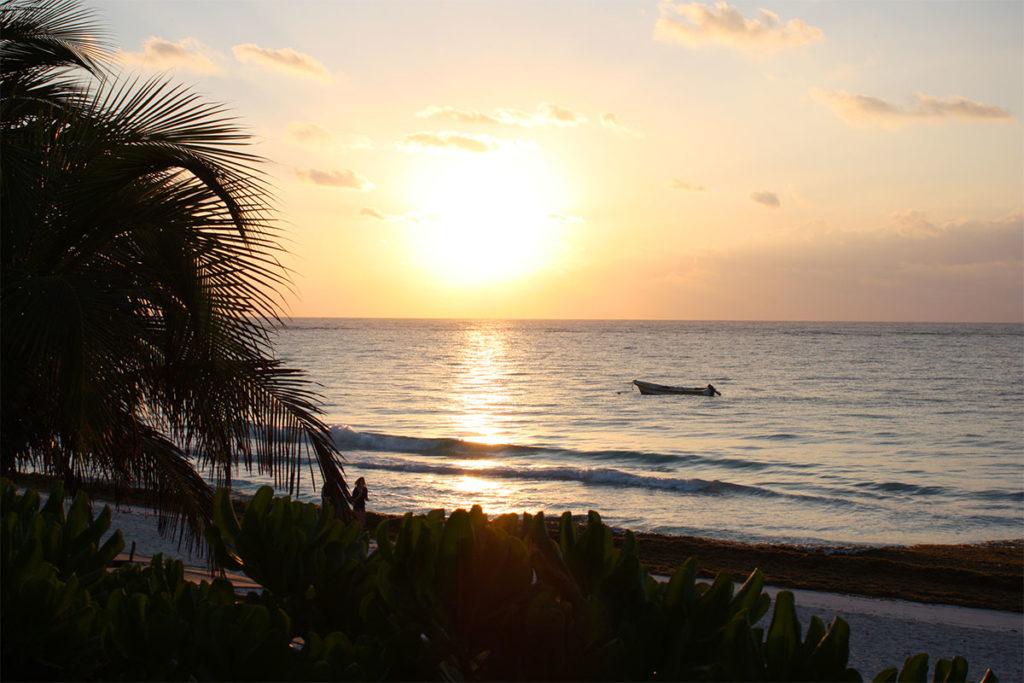 Sunrise on Tulum Beach
