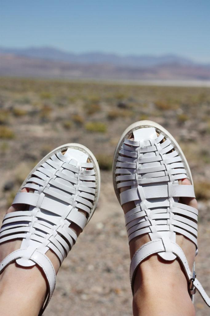 ASOS white woven sandals