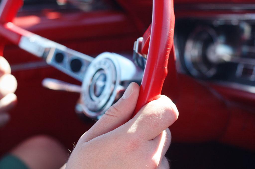 Behind the wheel 64 Mustang