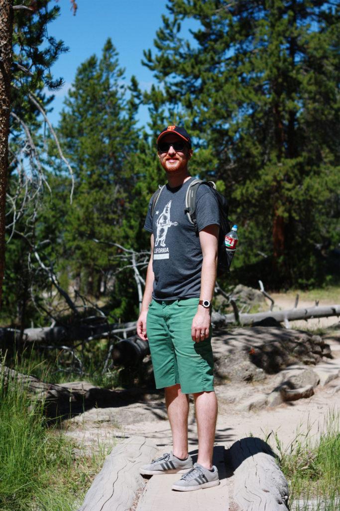 Hiking in Yellowstone NP